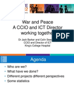Dr Jack Barker & Colin Sweeney - 'War and Peace A CCIO and ICT Director working together'
