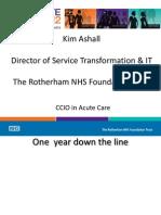 Kim Ashall - 'CCIO in Acute Care'