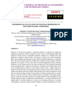 Experimental Evaluation of Flexural Properties of Polymer Matrix Composites