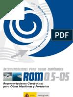 ROM 0.5-05 Recomendaciones Geotécnicas para Obras Marítimas y Portuarias