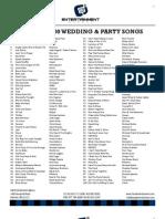 Top 200 Song List