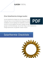 Solarthermie-Checkliste