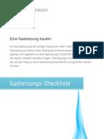 Gasheizung-Checkliste