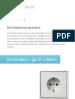 Elektroheizung-Checkliste