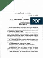 Lexicología canaria
