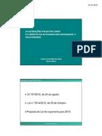 alterações fiscais 2012 2013 Dra Suzana Costa