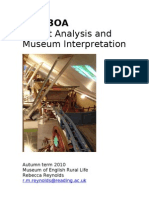 Museum Object Analysis Course Spec