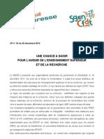 CP Sgen-CFDT n° 33  du 20-12-12
