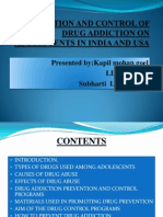 Prevention and Control of Drug Addiction on Adolescents