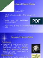 Toxicological Materia Medica