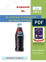 An overview of managerial operations of PEPSI-CO