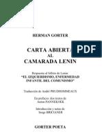 Hermann Gorter - Carta Abierta Al Camarada Lenin