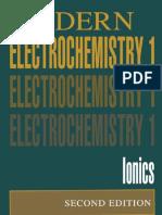 Modern Electrochemistry 1 Ionics