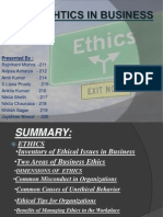 Ehtics in Business 12
