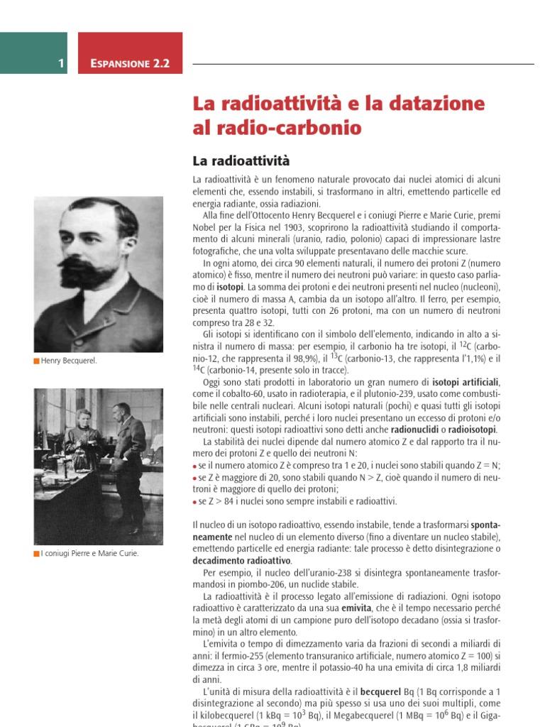Datazione radioattiva contro datazione radiometrica