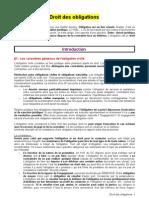 Droit Des Obligations, Intro Et Part 1 (2)