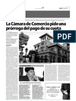 Reportaje sobre la imposición de la Cuota Cameral (Cámaras de Comercio)