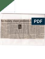No Money, More Problems