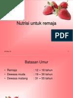 Nutrisi untuk remaja