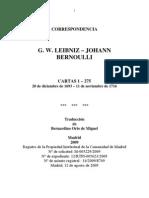 Leibniz. Correspondencia Con Johann Bernoulli