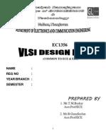EC1356-VLSI Design Lab Manual EC1405 -VLSI Lab Manual