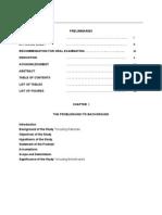 Thesis b - Manuscript Outline