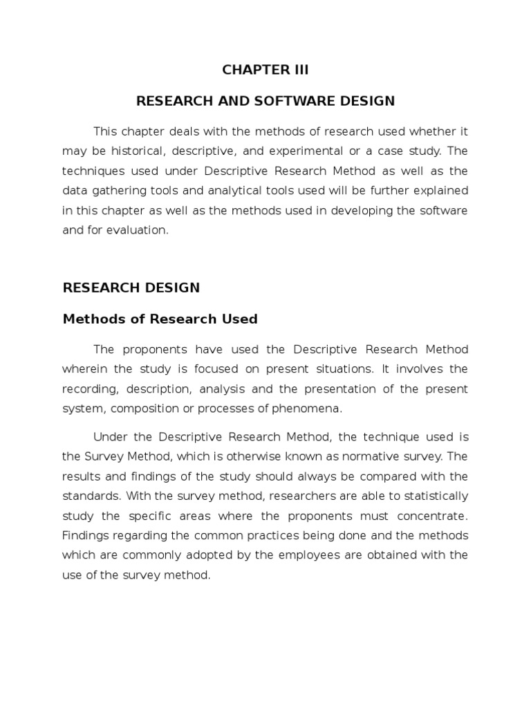 chapter 3 research design thesis Chapter 3 methods and procedures introduction possible to attain a statistical power of at least 08 given this research project's design.
