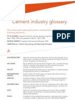 Cement Industry Glossary