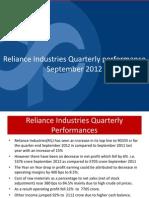 Reliance Quarterly Result September FY12Q3