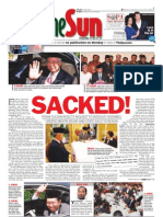 TheSun 2009-02-06 Page01 SACKED Perak Sultan Rejects Request to Dissolve Assemblt Orders MB and State Exco Resign