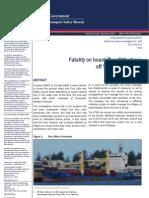 M.V THOR GITTA Fatality Investigation Report by ATSB