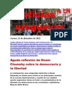 Noticias Uruguayas viernes 21 de diciembre del 201