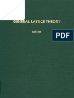General Lattice Theory George Gratzer