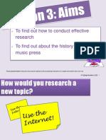 Music Press Lesson 3