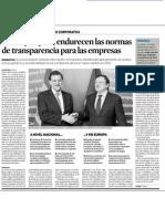 La UE y España endurecen las normas de transparencia para las empresas