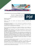 Intervention de Jean-Emmanuel Robert (UMP) toujours sur le budget...