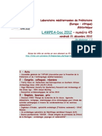 LAMPEA-Doc 2012 - numéro 45 / vendredi 21 décembre 2012