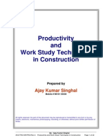 Text Book~Productivity and Work Study Techniques in Constr