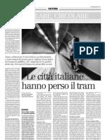 Le città italiane hanno perso il tram - Il Manifesto 21-12-12