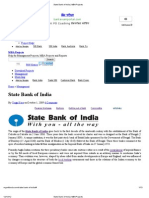 State Bank of India _ MBA Projects