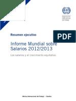RESUMEN EJECUTIVO Informe Mundial sobre Salarios 2012/2013