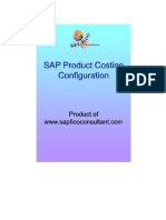 SAP Product Costing