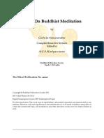 Wh448 - Talks on Buddhist Meditation - Godwin Samararatne