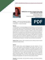 [PDF]  Reflexiones en torno al lugar de las artes en la Educación Infantil