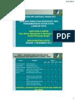 2012-12-07 HS Arifin Pencermatan Hutan Kota
