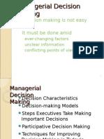 Management Func. & Behaviour - Decision Making Model