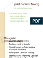 Management Func. & Behaviour - Decision Making Model -1
