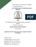Application Web de Gestion de stock du  magasin de Faculté de Médecine
