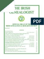 PÉREZ 2012-Roster and Genealogy...Ireland