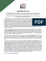 Comunicato n.1 Del 16102012 Conferma Data 2013 e Logistica